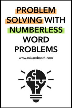 Using numberless word problems is a great problem solving stra. Using numberless word problems is a great problem solving strategy to help students truly understand word problems involving adding,. Fraction Word Problems, Math Word Problems, Problem Solving Activities, Math Activities, Fifth Grade Math, Math Words, Critical Thinking Skills, Math Concepts, Teaching Math