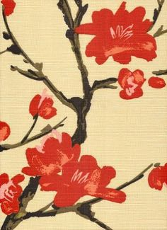 "Flowering Branch Silk  This beautiful multi purpose weight floral print fabric is ideal for upholstery, slipcovers, bedding, or draperies. 54"" wide. 100% cotton"
