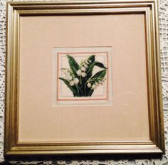 Lily of the valley cross stitch completed March 2014