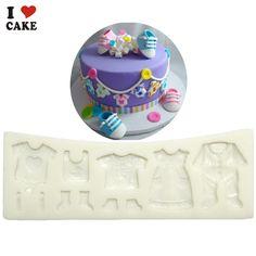 Baby clothes dress fondant cake decorating tool molde de silicone moule silicone wilton silikon mould