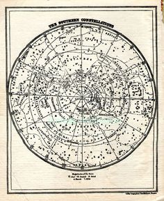 southern hemisphere constellations map