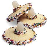 Sombrero Cookies - Sugar cookies and gum drops