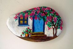 Easy Paint Rock For Try at Home (Stone Art & Rock Painting Ideas) Rock Painting Patterns, Rock Painting Ideas Easy, Rock Painting Designs, Stone Art Painting, Pebble Painting, Pebble Art, Painting Flowers, Stone Crafts, Rock Crafts