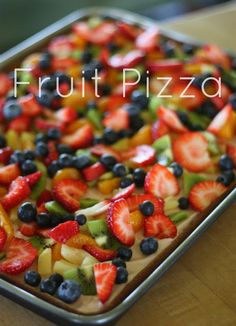 Fruit Pizza with a Ginger Snap Cookie Crust