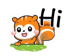Morning Gif, Good Morning, Hi Gif, Line Sticker, Squirrel, Custom Stickers, Pikachu, Cute Animals, Gifs