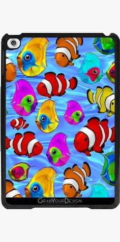Case for Apple Ipad Mini 4 - Tropical Fishes 3d Pattern - by BluedarkArt
