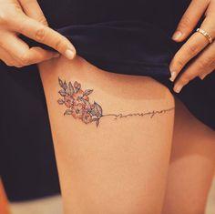 65 Small Cherry Blossom Tattoo Ideas – foot tattoos for women quotes Foot Tattoos For Women, Small Wrist Tattoos, Tattoo Designs For Women, Tattoos For Guys, Classy Tattoos For Women, Mini Tattoos, Trendy Tattoos, Cool Tattoos, Tattoo Femeninos