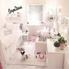 Teen girl room design, Remove your home's clutter and gain space.Consider obtaining good storage for any items that typically clutter your living area. A box stored in the corner takes quite a lot less place than having things scattered about. Teenage Girl Bedrooms, Girls Bedroom, Bedroom Decor, Bedroom Inspo, Bedroom Furniture, Design Bedroom, Teen Bedroom Colors, Hippie Bedrooms, Bedroom Inspiration