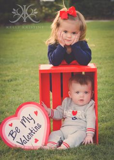 Kelly Kristine Photography | Adorable Sibling Valentine Photo Ideas.  Brother & Sister Photography #kkristinephotography #kellykristine #tampaphotographer