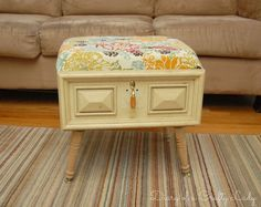 Diary of a Crafty Lady: Old Drawer Ottoman