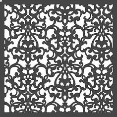 Damask Stencil 12x12 by HouseofDavis on Etsy