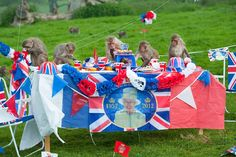 A monkey tea party in celebration of the queen's diamond jubilee was laid on by kind-hearted and patriotic staff at the Longleat safari park in Wiltshire this week, but things very soon descended into chaos as the cheeky primates ran riot with the carefully laid out feast. Not a single fairy cake was spared.