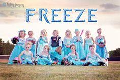 Disney's Frozen Themed Girls T-Ball Photo Shoot Is Unbelievably Bad Ass