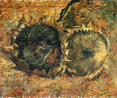 Van Gogh Still Life | Vincent van Gogh, Still Life with Two Sunflowers 1887