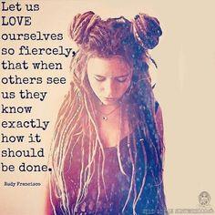 Let us love ourselves fiercely- Rudy Francisco. WILD WOMAN SISTERHOODॐ #WildWomanSisterhood #repinned #wildwomanmedicine #EmbodyYourWildNature