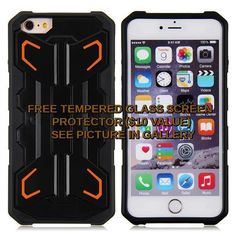 Bulk case for iphone 6,High quality 2 in1 Kickstand Case for iPhone 6 ORANGE #Unbranded