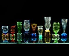 Cheap Murano by Italian designer Massimiliano Adami: delicate glasses made from plastic bottles.