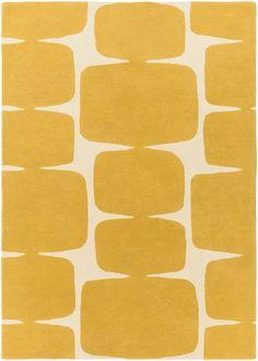 Yellow Area Rugs, Beige Area Rugs, Wool Area Rugs, Modern Decor, Mid-century Modern, Gold Rug, Burke Decor, Modern Area Rugs, Contemporary Area Rugs