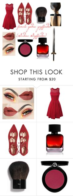 """""""Hogwarts Founder's Godric Gryffindor{part2}"""" by palyser ❤ liked on Polyvore featuring The Collection by Phuong Dang, Bobbi Brown Cosmetics and Giorgio Armani"""