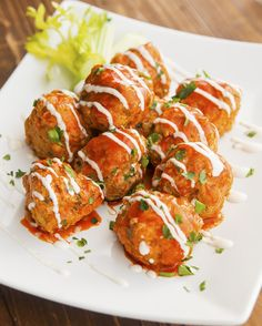 Slow Cooker Buffalo Chicken Meatballs // Buy featured Crock-Pot here: http://bit.ly/jarcrockpt2