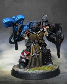 Warhammer 40k Black Templars Space Marines, Conversion, Robes, Terminator Armor