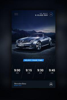 Mercedes Benz Mobile website UI design concept