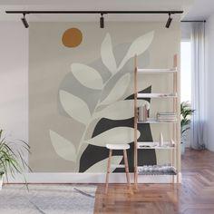 Abstract Plant Wall Mural by Dan Hobday Art - X Wall Painting Decor, Mural Wall Art, Canvas Wall Art, Wall Decor, Removable Wall Murals, Bedroom Wall Colors, Motif Floral, Plant Wall, Abstract Shapes