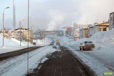 industrial in  Norilsk,   Siberia, Russia    ----------                             A city in the arctic dessert. A city without a single tree. A polar oasis.