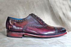 Dominique Saint Paul - hand coloured shoes - oxblood