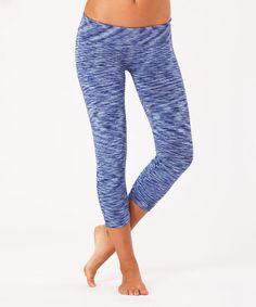 Look at this #zulilyfind! Royal Blue Heather Crop Leggings #zulilyfinds