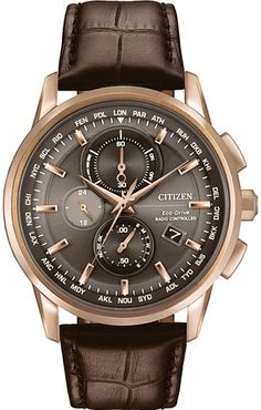 Men's Citizen World Chronograph A-T Atomic Watch AT8113-04H
