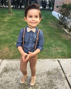 20 Toddler Boy Outfit Ideas Suspender Trousers for Gentleman Baby Boys - Cute Adorable Baby Outfits Toddler Boy Fashion, Little Boy Fashion, Toddler Boy Outfits, Fashion Kids, Boy Toddler, Toddler Boy Dress Clothes, Toddler Boy Haircuts, Fashion Usa, Latest Fashion