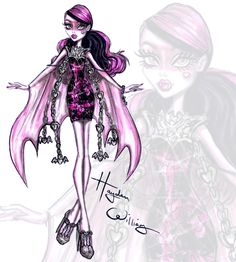 Check out my freaky fabulous collab with Monster High. I created killer illustrations of the ghouls from their new movie 'Haunted'. Drop Dead Gore-geous!