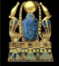 "Click through the large version for a full-screen view (on a black background in Firefox), set your computer for full-screen. ~  From the funerary furnishings of King Sheshonq II at Tanis. Evokes the rebirth of the dead king in the form of a Scarab. ~ Cairo Museum, Egypt ~ Miks' Pics ""Acnient Egypt"" board @ http://www.pinterest.com/msmgish/ancient-egypt/"" and my Artsy Fartsy ll"" board @ http://www.pinterest.com/msmgish/artsy-fartsy-ll/"
