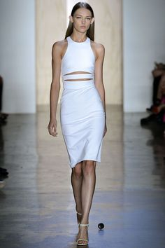 Cushnie et Ochs white dress with cut-outs