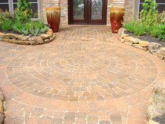 whimsical hardscape paver designs | Kingwood Hardscaping | The Woodlands, TX | Custom Brick Pavers