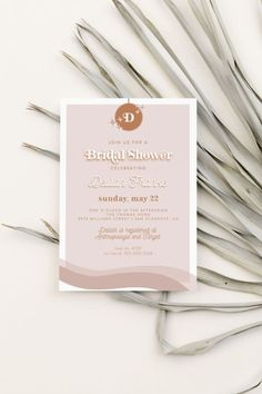 Disco Bridal Shower Invitation for a funky, retro, vintage, or 70s themed baby or bridal shower!