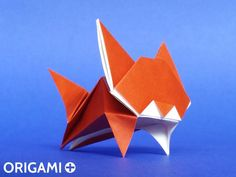 Origami Leaping Cat
