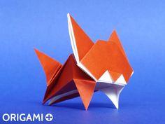 Origami Leaping Cat