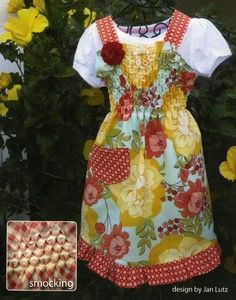 Apron Lady Child's Honeycomb Apron The Pattern Hutch children craft pattern