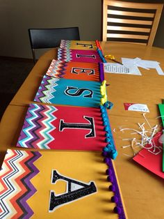 "Mexican fiesta banner.  This would also work well as a cash register sign that says, ""Cashier."""