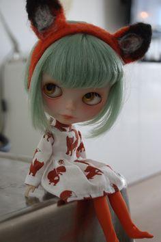 Blythe with fox ears