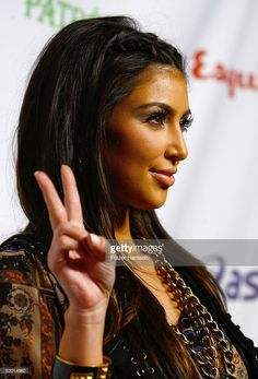 TV personality Kim Kardashian arrives at 'Rock The Vote' Hosted by Christina Aguilera held at the Esquire House Hollywood Hills on September 25, 2008 in Los Angeles, California.