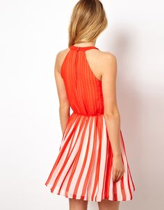0fb339fb69adc Ted Baker Striped Pleated Dress at asos.com