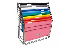 Arquivo Organizador para escritório com 10 pastas coloridas Dello