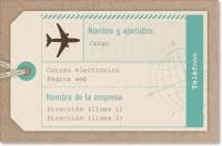 aeroplano agencia de viajes Tarjetas de visita premium