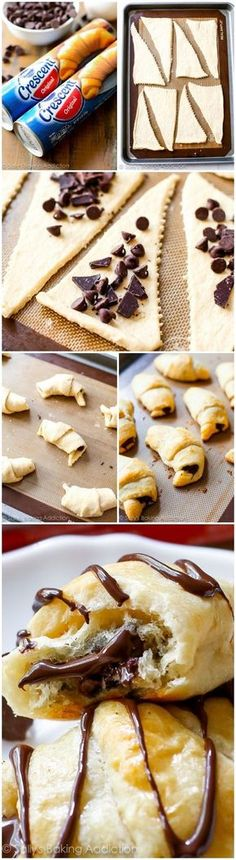 20 Minute Chocolate Croissants from sallysbakingaddiction.com - these could not be any easier!!