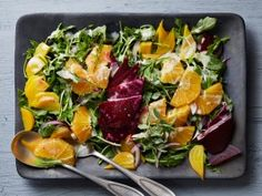 Roasted Beet Salad with Oranges and Creamy Goat Cheese Dressing from CookingChannelTV.com