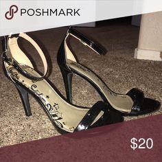 a0c9f20f7aa1 Black Ankle Strap Heels! 4 inch heels. Worn once. Super cute! Shoes Heels