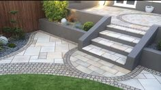 Marshalls fairstone slabs with nice edging